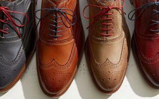 Как завязывать шнурки на туфлях — 7 способов шнурования мужской обуви