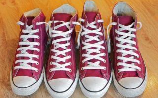 Как завязывать шнурки на кедах красиво — 10 способов