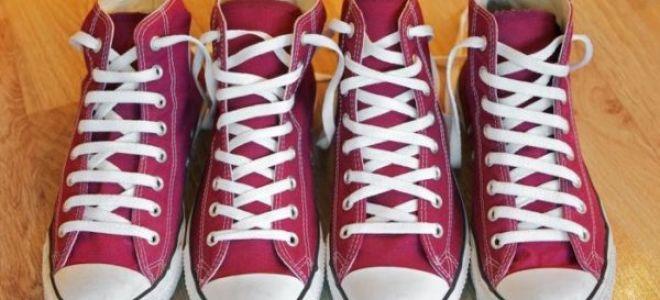 Как завязывать шнурки на кедах красиво