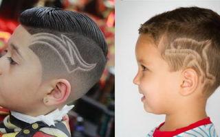 Оригинально и стильно: стрижки с рисунком на голове для мальчиков. Техника выполнения, советы по выбору узора