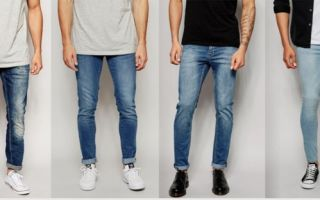 Описание и фото видов мужских джинсов. Известные бренды