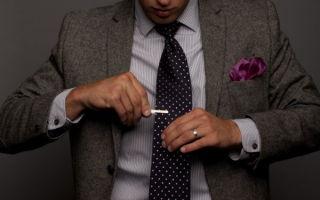 Как носить зажим для галстука правильно — 11 важных нюансов