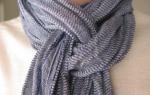 Как завязать шарф мужчине — 10 способов