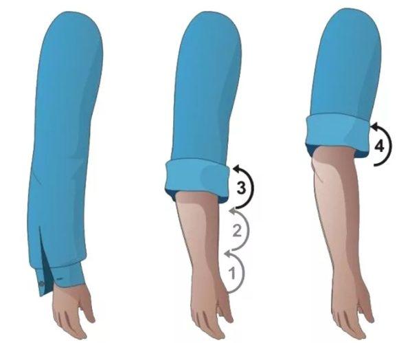 Как закатывать рукава на рубашке — 3 интересных способа2