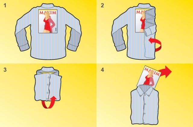 Как сложить рубашку, чтобы она не помялась — лучшие способы4