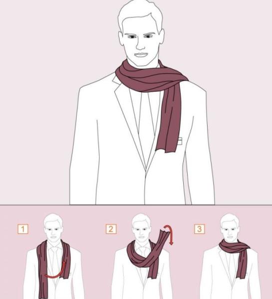 Как завязать шарф мужчине — 10 способов9