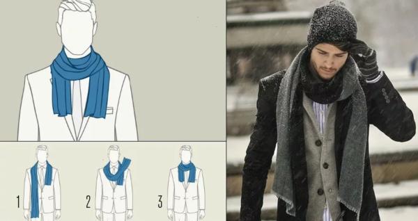 Как завязать шарф мужчине — 10 способов8