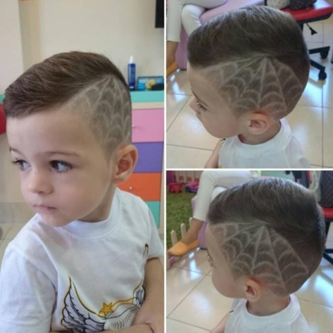 Рисунки на голове для мальчиков: фото стрижек и рекомендации, как машинкой выбрить на волосах молнию или сделать другой легкий узор?